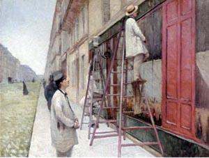 カイユボット建物のペンキ塗り.jpg