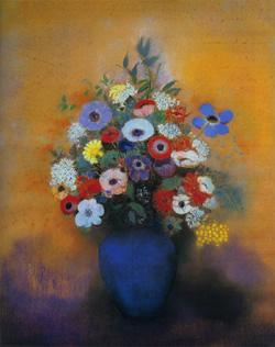 青い花瓶のアネモネとリラ1912ルドン.jpg